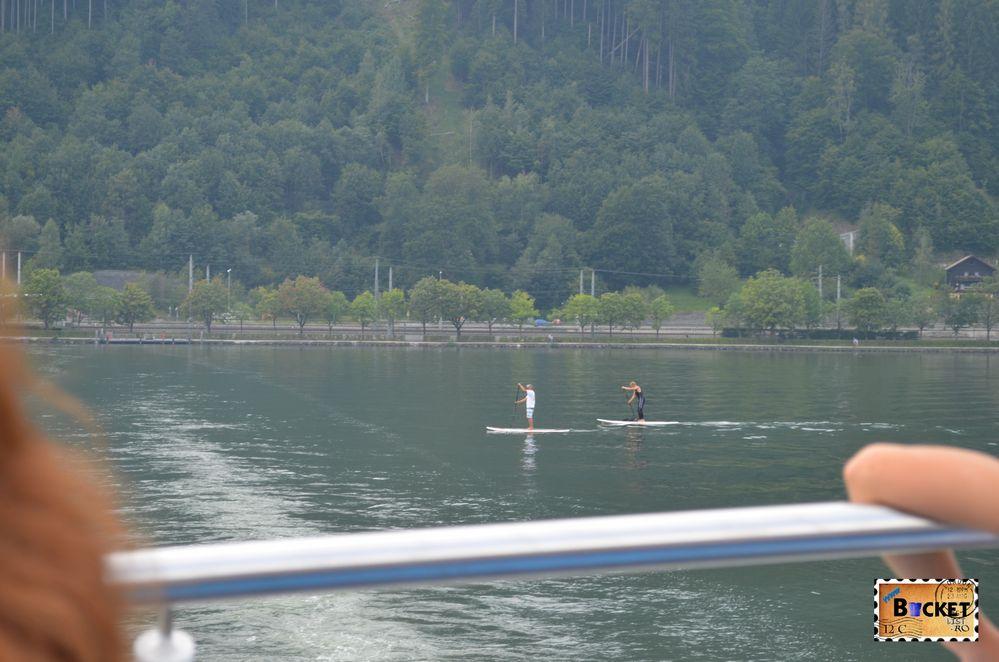 sport pe lac