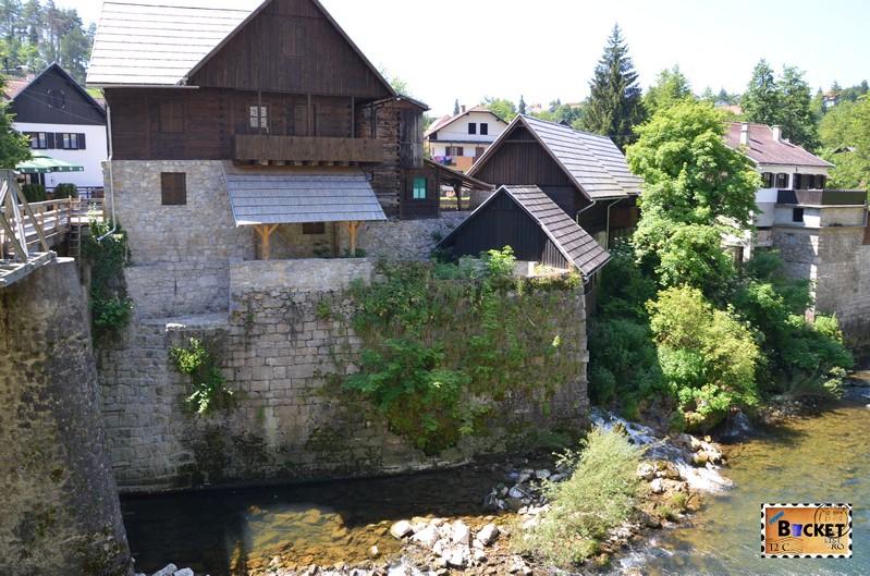 Morile de apa de la Slunj - Rastoke si cascadele raului Slunjcica