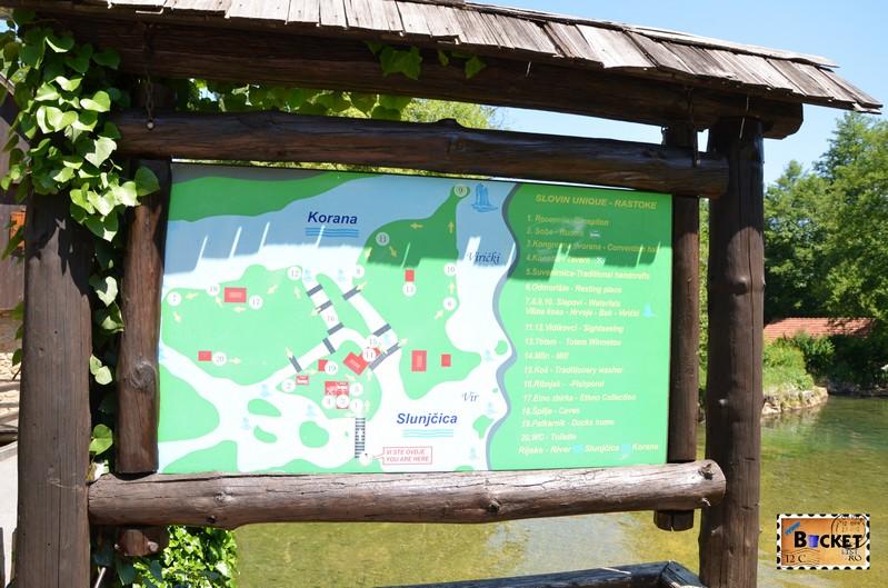 harta Slovin Unique Rastoke