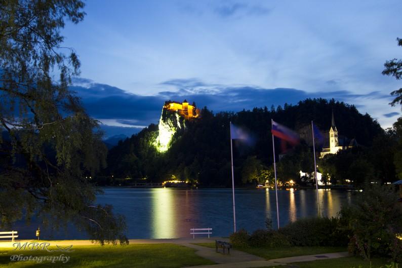 Castelul din Bled si biserica Sf Martin