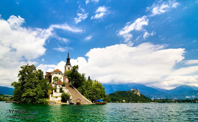 Lacul Bled si biserica Sf Maria de pe lacul Bled