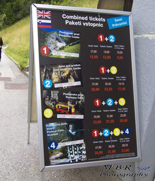 tickets Castelul Predjama din Slovenia