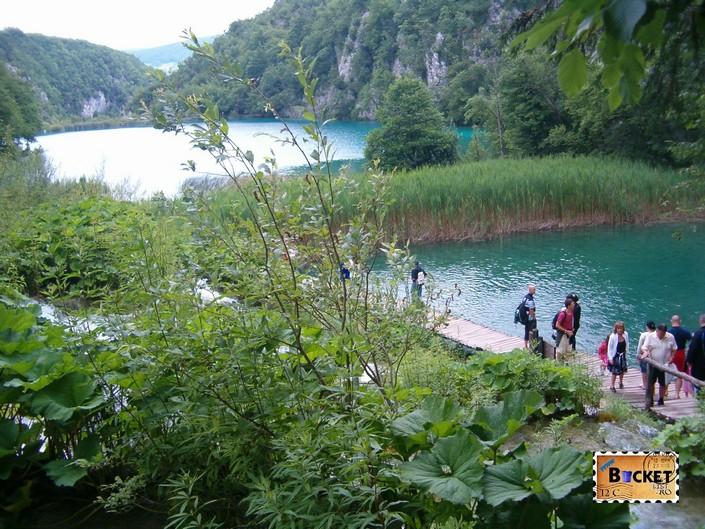 Lacurile de jos din Parcul National Plitvice - Velike Kaskada si  lacul Kaludjerovac