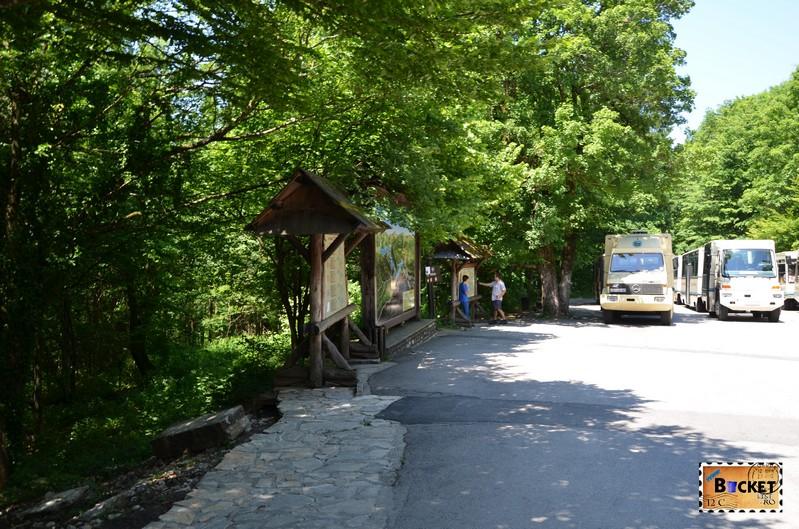 Statia de plecare a trenurilor panoramice pentru lacurile superioare din Plitvice Jedera