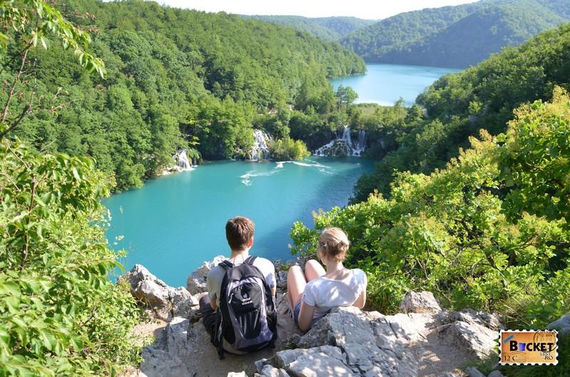 priveliste spre parcul national lacurile Plitvice
