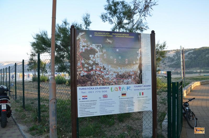 Harta informativa pentru statiunea Lopar din Insula Rab