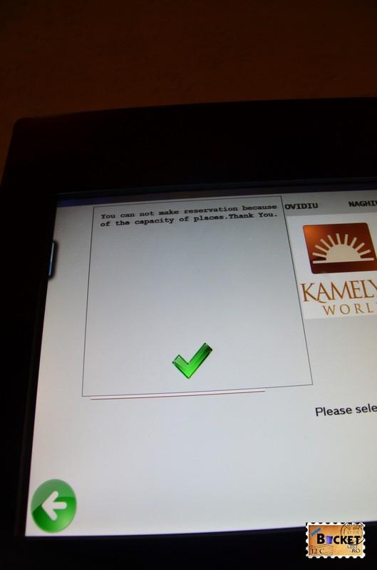 automat pentru rezervare a la carte - Kamelya Holiday Village din Side